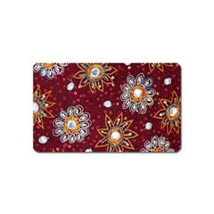India Traditional Fabric Magnet (name Card) by BangZart