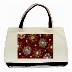 India Traditional Fabric Basic Tote Bag by BangZart