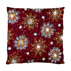 India Traditional Fabric Standard Cushion Case (two Sides) by BangZart