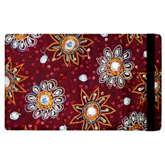 India Traditional Fabric Apple Ipad 2 Flip Case by BangZart