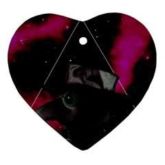 Bird Man  Heart Ornament (two Sides) by Valentinaart