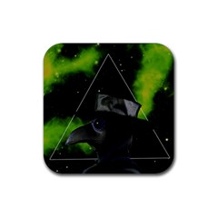 Bird Man  Rubber Square Coaster (4 Pack)  by Valentinaart