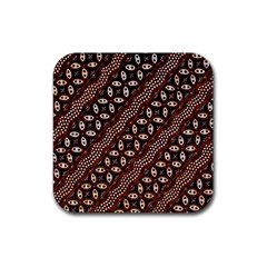 Art Traditional Batik Pattern Rubber Square Coaster (4 Pack)  by BangZart