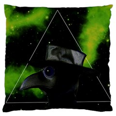 Bird Man  Large Cushion Case (two Sides) by Valentinaart