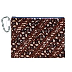 Art Traditional Batik Pattern Canvas Cosmetic Bag (xl) by BangZart
