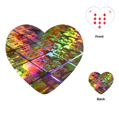 Technology Circuit Computer Playing Cards (heart)  by BangZart