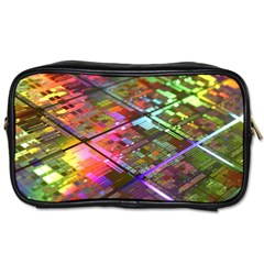 Technology Circuit Computer Toiletries Bags 2 Side by BangZart