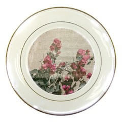 Shabby Chic Style Floral Photo Porcelain Plates by dflcprints