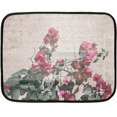Shabby Chic Style Floral Photo Fleece Blanket (mini) by dflcprints