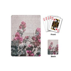 Shabby Chic Style Floral Photo Playing Cards (mini)  by dflcprints