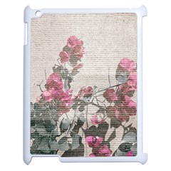 Shabby Chic Style Floral Photo Apple Ipad 2 Case (white) by dflcprints