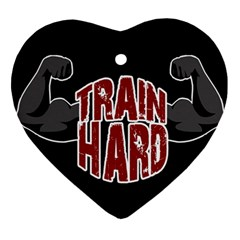 Train Hard Heart Ornament (two Sides) by Valentinaart