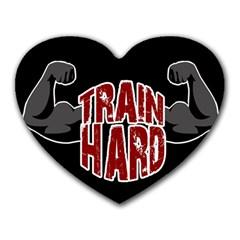 Train Hard Heart Mousepads by Valentinaart