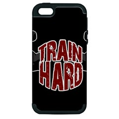 Train Hard Apple Iphone 5 Hardshell Case (pc+silicone) by Valentinaart