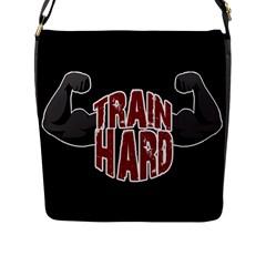 Train Hard Flap Messenger Bag (l)  by Valentinaart