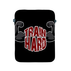 Train Hard Apple Ipad 2/3/4 Protective Soft Cases by Valentinaart