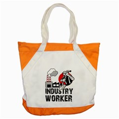Industry Worker  Accent Tote Bag by Valentinaart