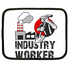 Industry Worker  Netbook Case (xl)  by Valentinaart