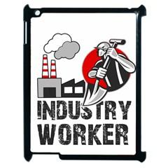 Industry Worker  Apple Ipad 2 Case (black) by Valentinaart