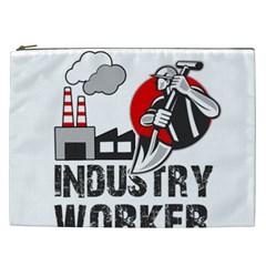 Industry Worker  Cosmetic Bag (xxl)  by Valentinaart