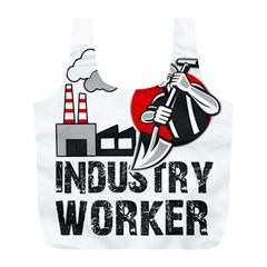 Industry Worker  Full Print Recycle Bags (l)  by Valentinaart