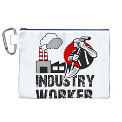 Industry Worker  Canvas Cosmetic Bag (xl) by Valentinaart
