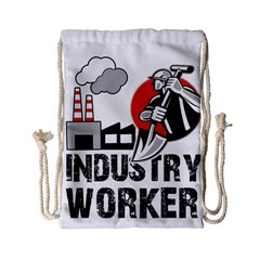 Industry Worker  Drawstring Bag (small) by Valentinaart