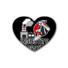 Industry Worker  Heart Coaster (4 Pack)  by Valentinaart