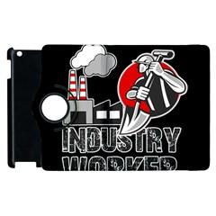 Industry Worker  Apple Ipad 2 Flip 360 Case by Valentinaart