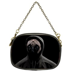 Gangsta Pug Chain Purses (two Sides)  by Valentinaart