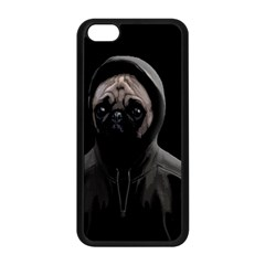 Gangsta Pug Apple Iphone 5c Seamless Case (black) by Valentinaart