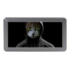Gangsta Cat Memory Card Reader (mini) by Valentinaart