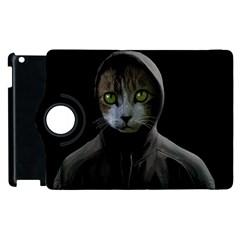 Gangsta Cat Apple Ipad 2 Flip 360 Case by Valentinaart