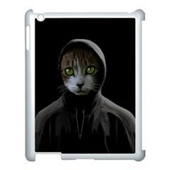 Gangsta Cat Apple Ipad 3/4 Case (white) by Valentinaart