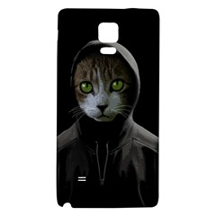 Gangsta Cat Galaxy Note 4 Back Case by Valentinaart
