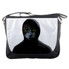 Gangsta Cat Messenger Bags by Valentinaart