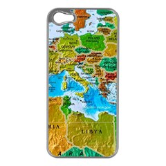 World Map Apple Iphone 5 Case (silver) by BangZart