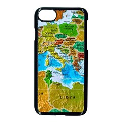 World Map Apple Iphone 7 Seamless Case (black) by BangZart