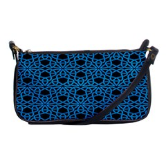 Triangle Knot Blue And Black Fabric Shoulder Clutch Bags by BangZart