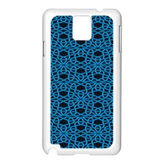 Triangle Knot Blue And Black Fabric Samsung Galaxy Note 3 N9005 Case (white)