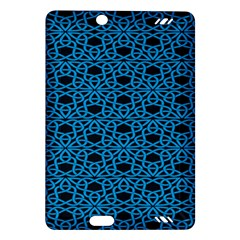 Triangle Knot Blue And Black Fabric Amazon Kindle Fire Hd (2013) Hardshell Case by BangZart