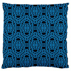 Triangle Knot Blue And Black Fabric Standard Flano Cushion Case (one Side) by BangZart