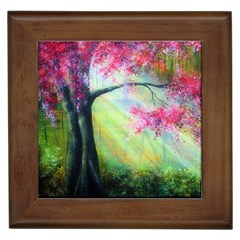 Forests Stunning Glimmer Paintings Sunlight Blooms Plants Love Seasons Traditional Art Flowers Sunsh Framed Tiles by BangZart