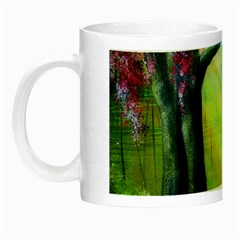 Forests Stunning Glimmer Paintings Sunlight Blooms Plants Love Seasons Traditional Art Flowers Sunsh Night Luminous Mugs by BangZart