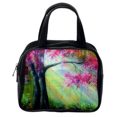 Forests Stunning Glimmer Paintings Sunlight Blooms Plants Love Seasons Traditional Art Flowers Sunsh Classic Handbags (one Side) by BangZart