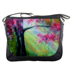 Forests Stunning Glimmer Paintings Sunlight Blooms Plants Love Seasons Traditional Art Flowers Sunsh Messenger Bags by BangZart
