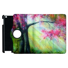 Forests Stunning Glimmer Paintings Sunlight Blooms Plants Love Seasons Traditional Art Flowers Sunsh Apple Ipad 3/4 Flip 360 Case by BangZart