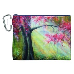 Forests Stunning Glimmer Paintings Sunlight Blooms Plants Love Seasons Traditional Art Flowers Sunsh Canvas Cosmetic Bag (xxl) by BangZart