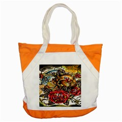 Flower Art Traditional Accent Tote Bag by BangZart