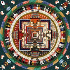 Colorful Mandala Magic Photo Cubes by BangZart